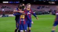 De Jong cai na área e Messi não perdoa da marca dos onze metros