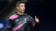 Cristiano Ronaldo no Estádio do Dragão pela Juventus (Luís Vieira/AP)