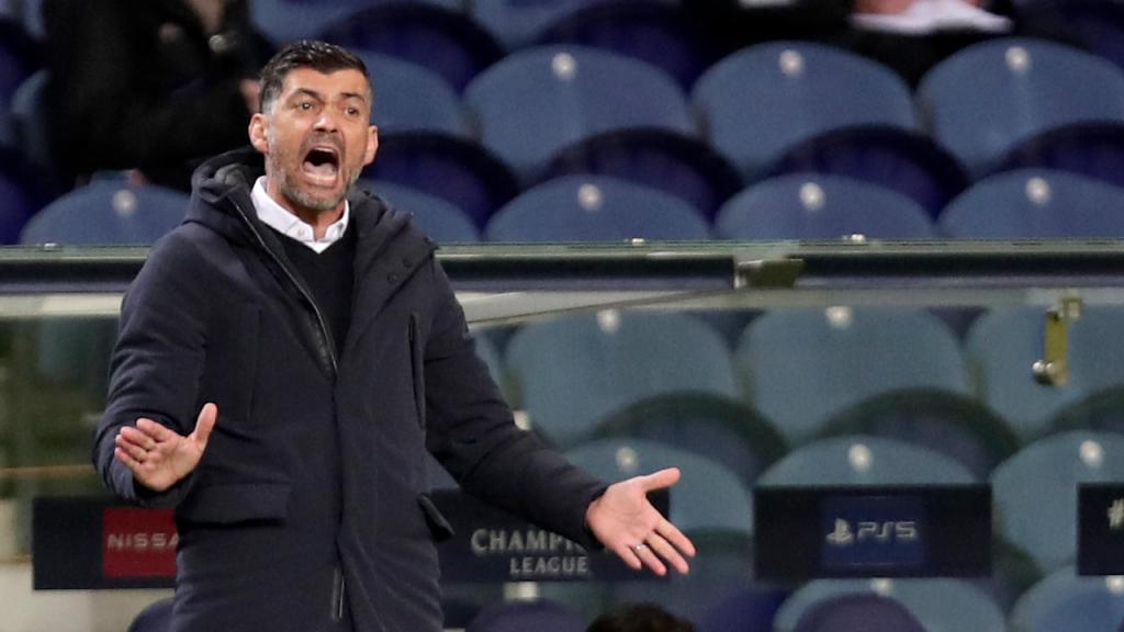 Sérgio Conceição no FC Porto-Juventus (Luís Vieira/AP)
