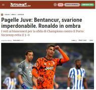 Imprensa italiana critica exibição de Ronaldo no Dragão