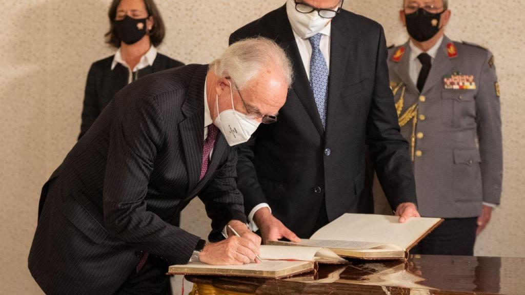 O presidente do Tribunal Constitucional, Juiz Conselheiro João Pedro Barrosa Caupers