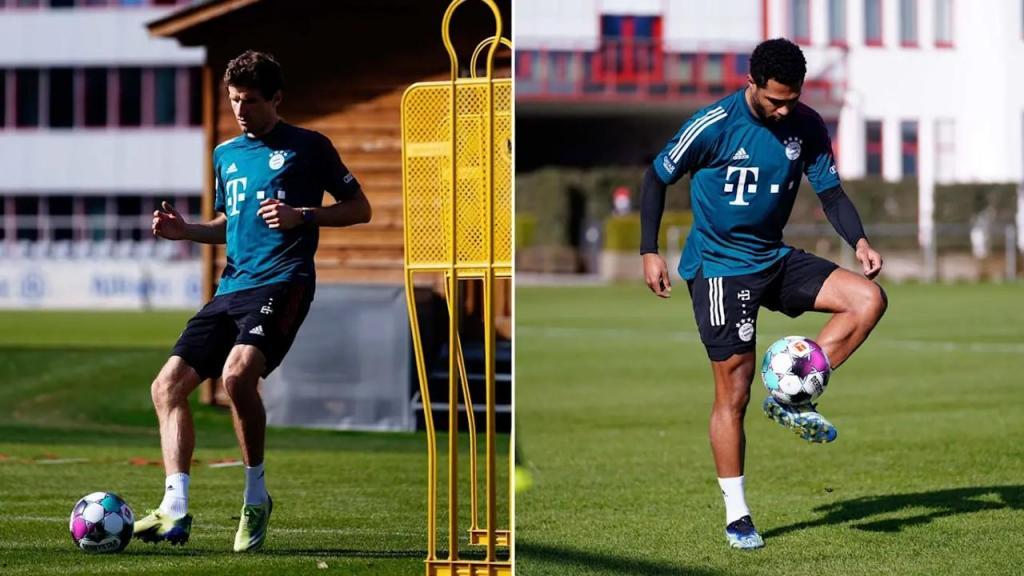 Muller e Gnabry de volta aos treinos do Bayern