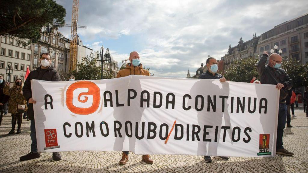 Protesto de trabalhadores da refinaria da Galp de Matosinhos