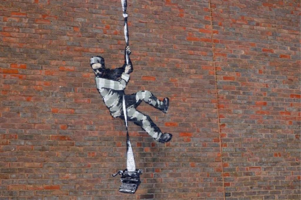 Será Bansky o autor desta obra que surgiu na parede de uma prisão britânica?
