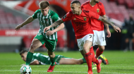 Everton e Costinha no Benfica-Rio Ave (António Cotrim/LUSA)