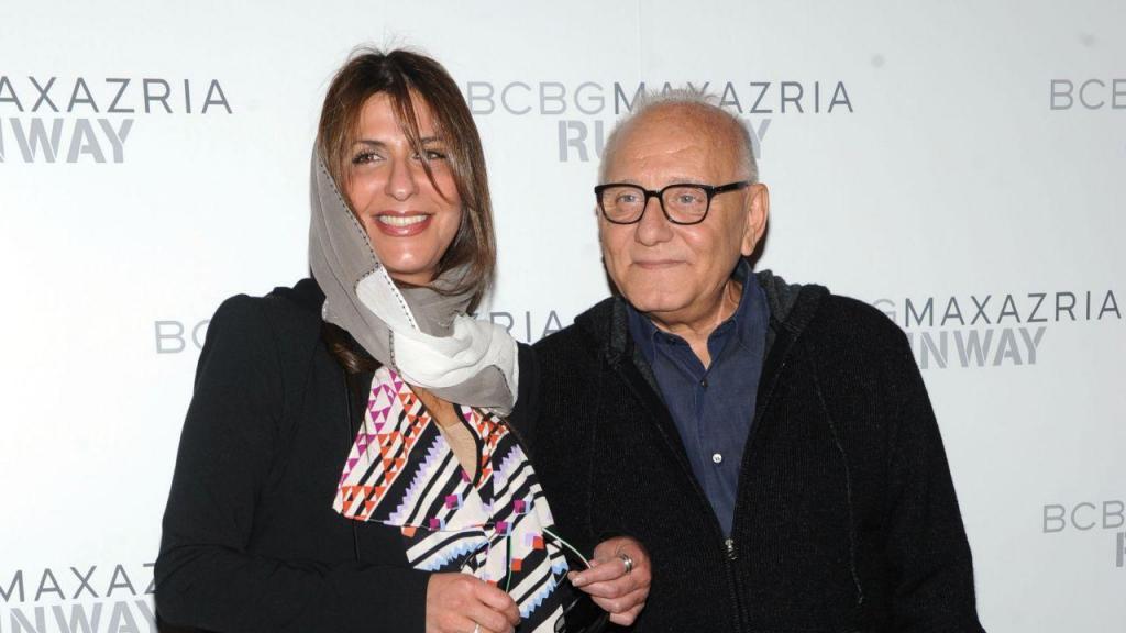 A princesa Basmah com o estilista Max Azria, em 2013