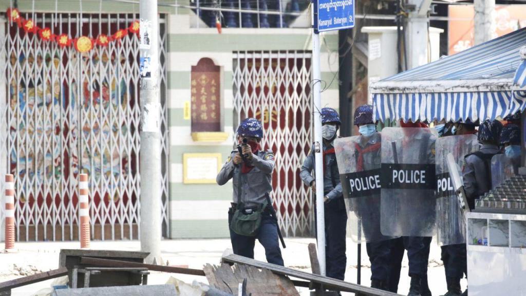 Protestos Myanmar