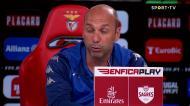 Treinador do Estoril comenta golo de Gonçalo Ramos: «A culpa é minha»