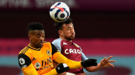 Nélson Semedo e Trezeguet no Aston Villa-Wolverhampton (Oli Scarff/EPA)