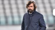 Andrea Pirlo no Juventus-Lazio (Alessandro Di Marco/EPA)