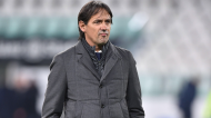 Simone Inzaghi no Juventus-Lazio (Alessandro Di Marco/EPA)