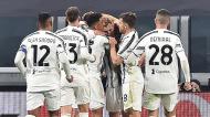Juventus festeja o 1-1 de Rabiot ante a Lazio (Alessandro Di Marco/EPA)