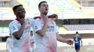 Dalot marca no Hellas Verona-Milan (EPA)