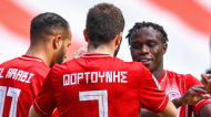 Bruma marcou um dos golos no Olympiakos-Lamia. Fortounis e El Arabi também marcaram (Olympiakos)