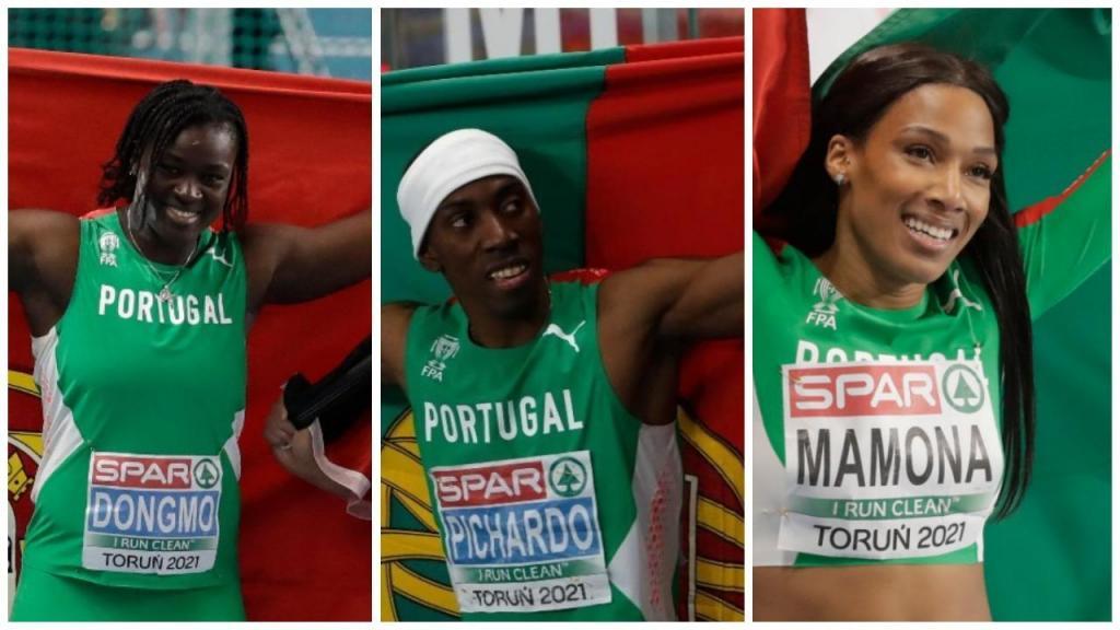 Auriol Dongmo, Pedro Pichardo e Patrícia Mamona: os três ouros de Portugal nos Europeus de pista
