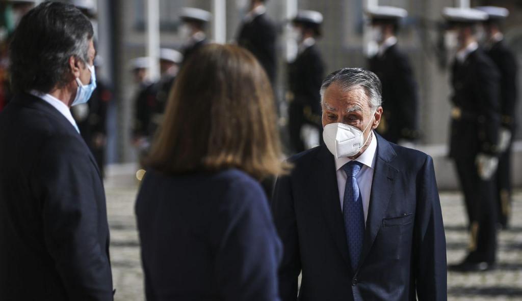 Cavaco Silva na tomada de posse de Marcelo