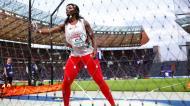 Liliana Cá, nos Europeus de atletismo de 2018, em Berlim. Foi sétima na final (Matthias Schrader/AP)