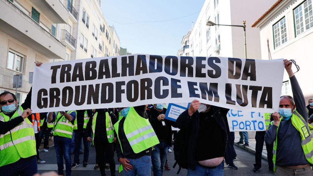 Trabalhadores da Groundforce em novo protesto contra falta de pagamento de salários