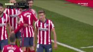 Llorente empata para o Atlético de Madrid em cima do intervalo
