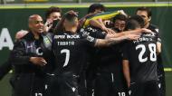 Sporting festeja o golo de Tiago Tomás ante o Tondela (Paulo Novais/LUSA)