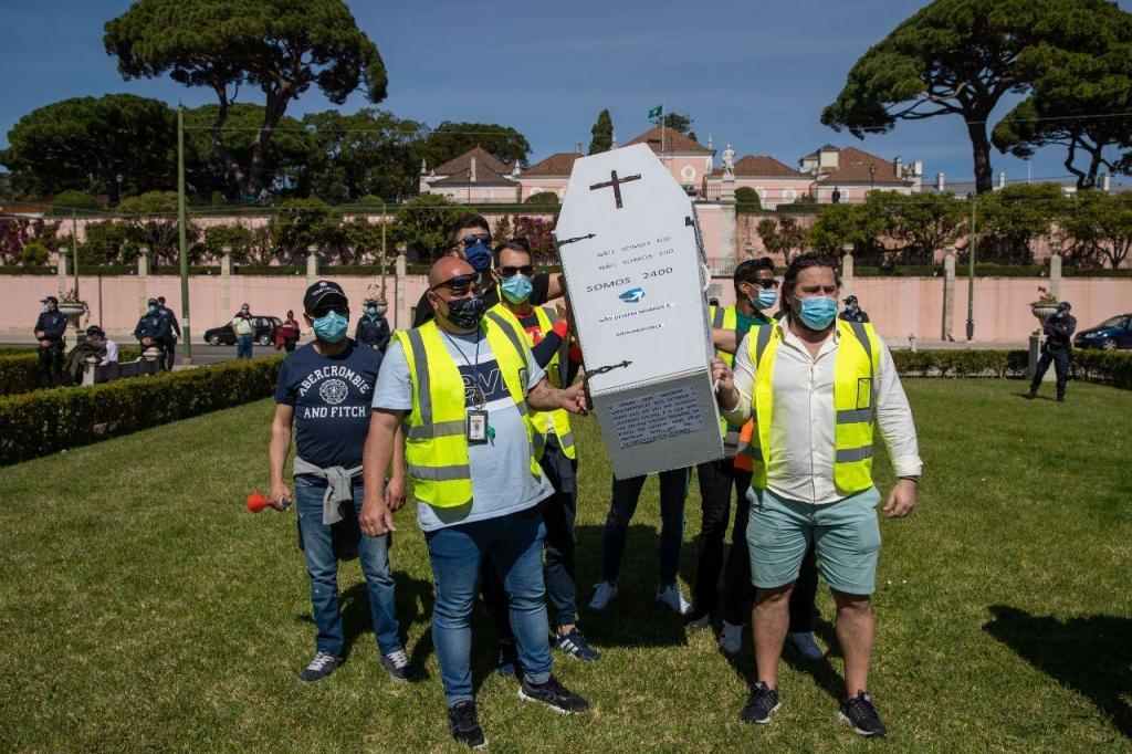 Manifestação de trabalhadores da SPdH/Groundforce