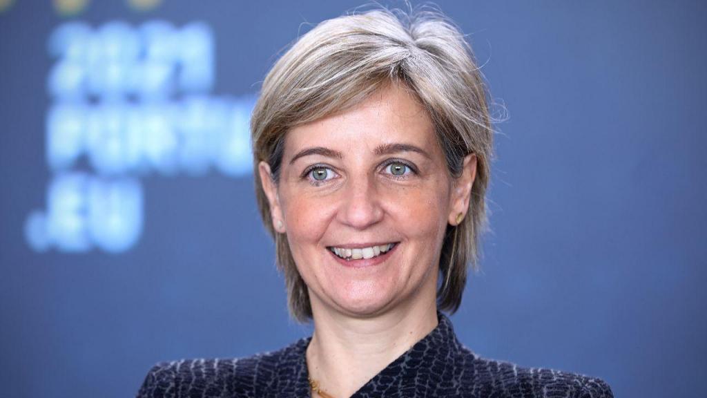 Ministra da Saúde Marta Temido em reunião da Presidência Portuguesa