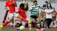 Christy Ucheibe e Raquel Fernandes no Sporting-Benfica da final da Taça da Liga (Paulo Cunha/LUSA)