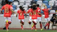Benfica festeja golo de Cloé Lacasse na final da Taça da Liga feminina (Paulo Cunha/LUSA)