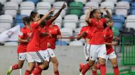Benfica festeja golo de Nycole na final da Taça da Liga feminina (Paulo Cunha/LUSA)