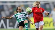 Joana Marchão e Cloé Lacasse no Sporting-Benfica da final da Taça da Liga (Paulo Cunha/LUSA)