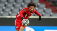 Leroy Sané remata no Bayern Munique-Lazio (Matthias Schrader/AP)