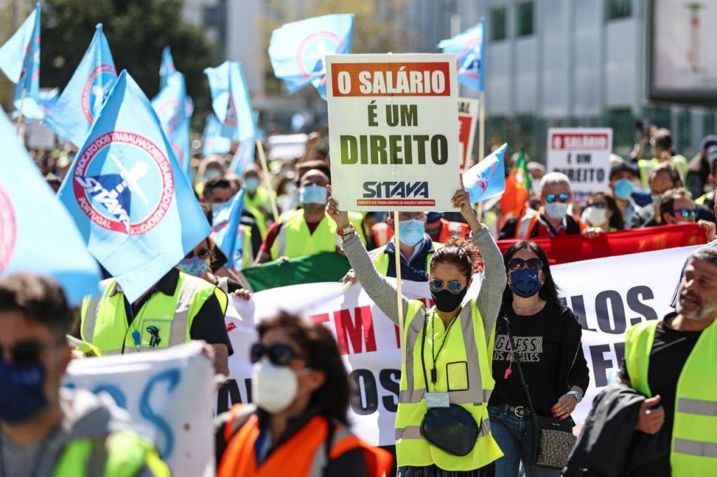 Manifestação de trabalhadores da Groundforce