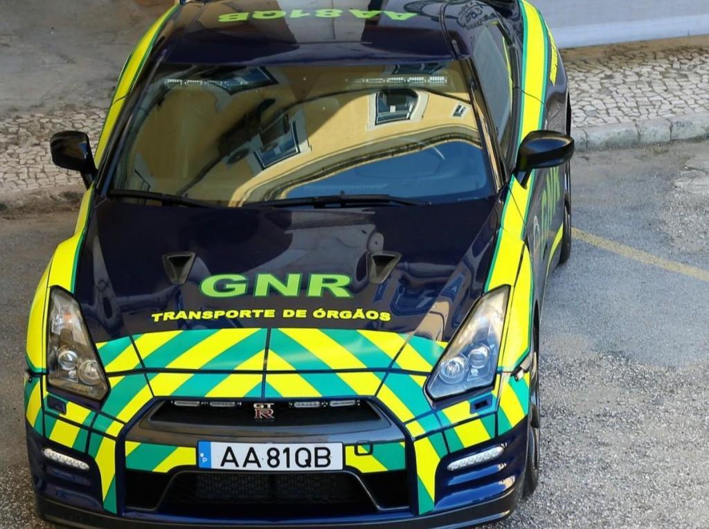 Nissan GT-R Black Edition para transporte de órgãos (reprodução Facebook GNR)