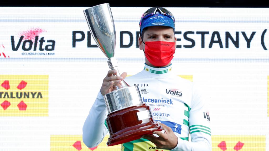 João Almeida chegou à liderança da Volta à Catalunha após a segunda etapa, esta terça-feira (Toni Albir/EPA)