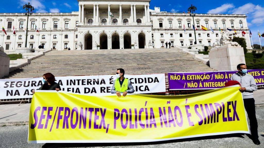 Manifestação de inspetores do SEF