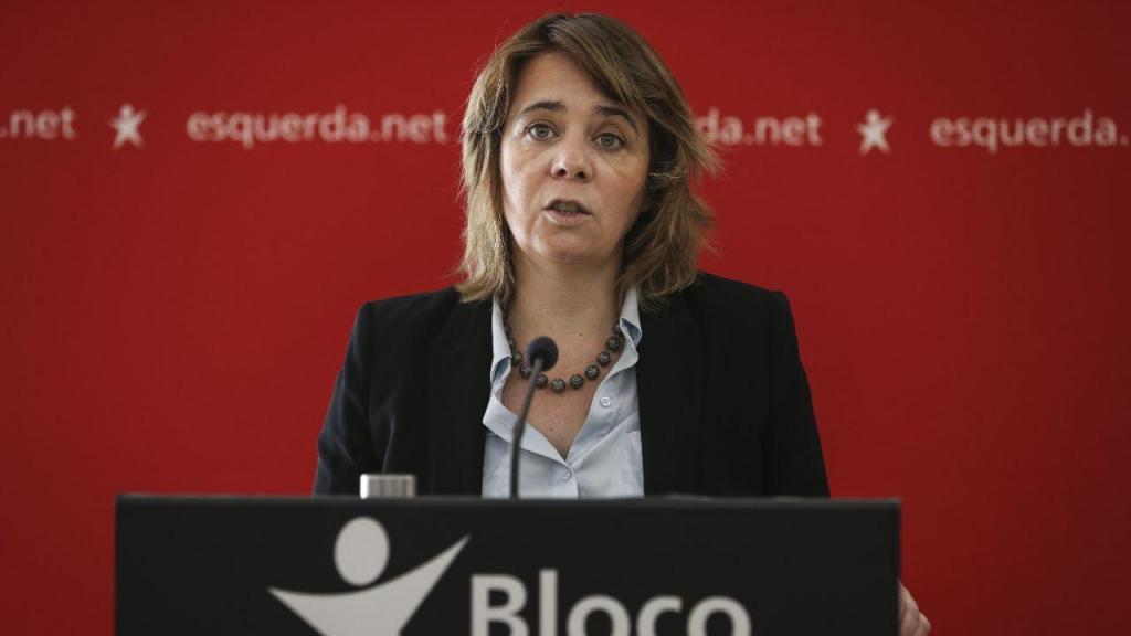 Catarina Martins, conferência de imprensa do Bloco de Esquerda