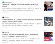 Golo anulado e reação de Cristiano Ronaldo na imprensa internacional