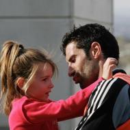 Figo com a filha Daniela