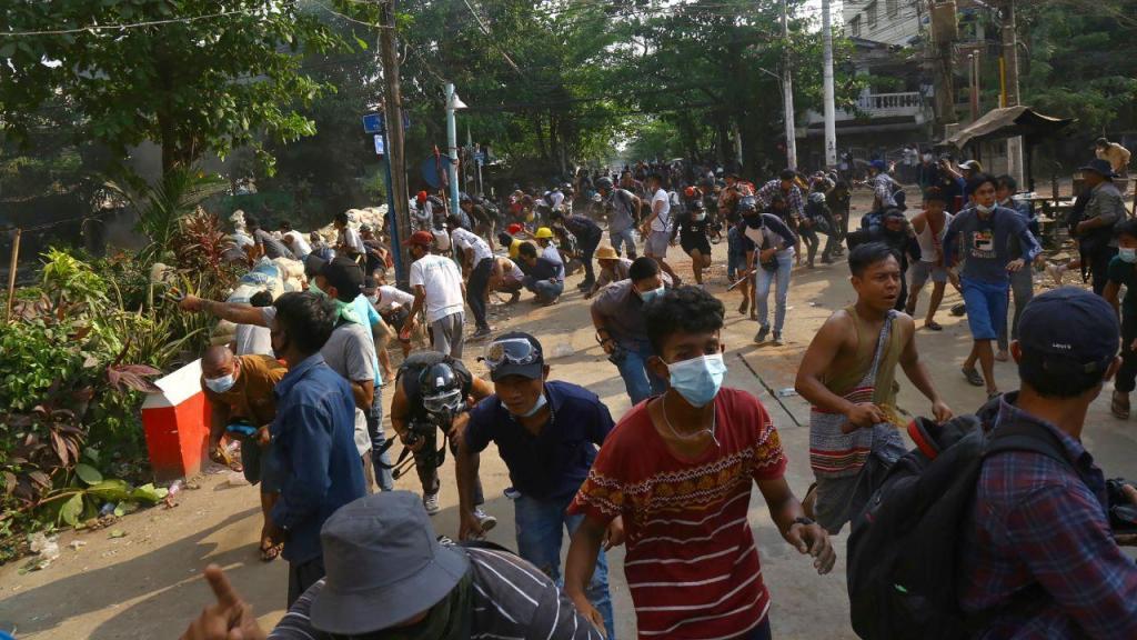 Protestos no Myanmar