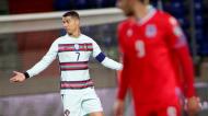 Cristiano Ronaldo no Luxemburgo-Portugal (Olivier Matthys/AP)