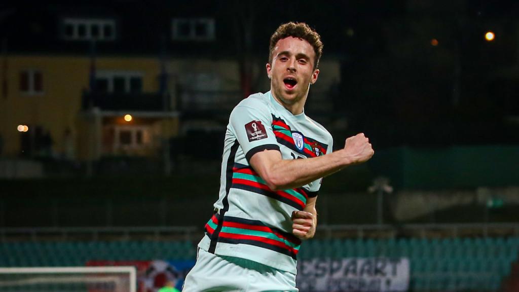 Diogo Jota festeja o 1-1 no Luxemburgo-Portugal (José Sena Goulão/LUSA)