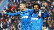 Cristiano Ronaldo e Juan Cuadrado na Juventus (Filippo Rubin/AP)