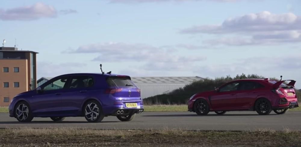 Volkswagen Golf R Vs Honda Civic Type R (Reprodução Youtube Carwow)
