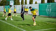 Pedro Porro no treino do Sporting (Sporting CP)