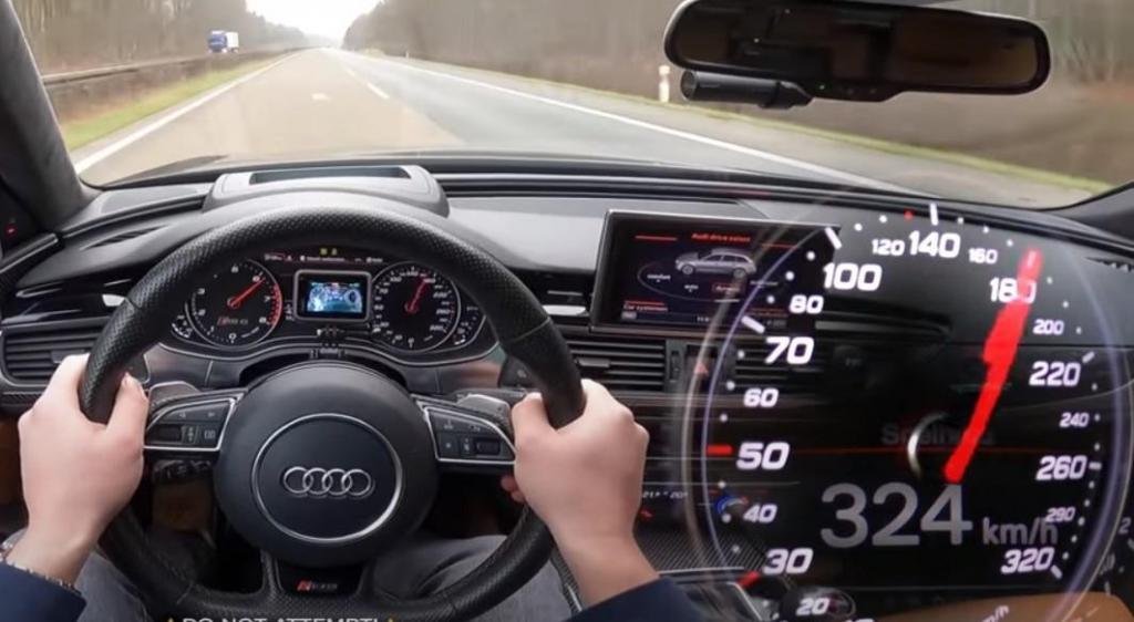 Audi RS 6 Avant na Autobahn (reprodução «AutoTopNL»)