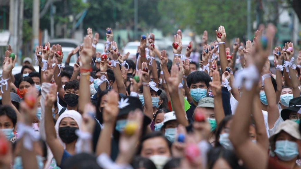 Manifestações no Myanmar