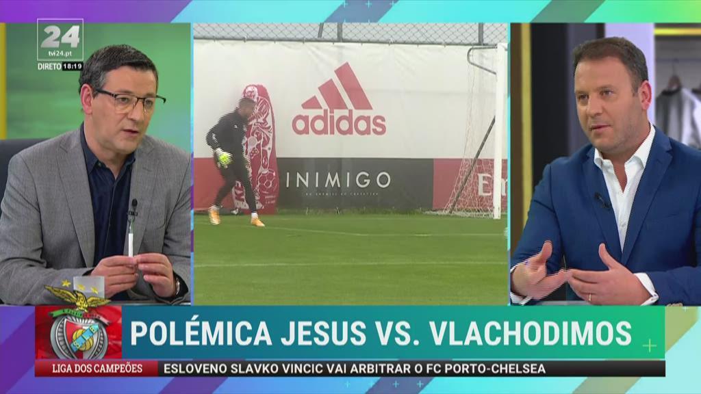 """Benfica: """"Parece-me que o futuro Vlachodimos está mais do que traçado"""""""