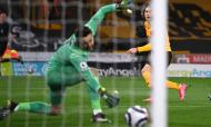 Fábio Silva marcou na derrota do Wolverhampton ante o West Ham (Laurence Griffiths/AP)