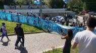 Claque do FC Porto foi ao Olival apoiar os jogadores