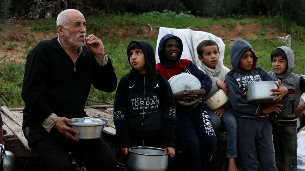 Distribuição de comida na Palestina